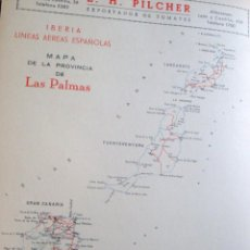 Coleccionismo de carteles: LÁMINA COLECCIÓN PUBLICIDAD HOTEL METRÓPOLE PILCHER BETANCOR ANSAR PROVINCIA DE LAS PALMAS 1954-1955. Lote 62283348