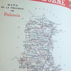 Coleccionismo de carteles: LÁMINA COLECCIÓN PUBLICIDAD CENTRAL HOTEL CONTINENTAL PROVINCIA DE PALENCIA 1954-1955. Lote 62288312