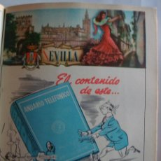 Coleccionismo de carteles: LÁMINA COLECCIÓN PUBLICIDAD JOSÉ ARGUDO EMINENCIA PALOMÍNO VERGARA PROVINCIA DE SEVILLA 1954-1955. Lote 62290788