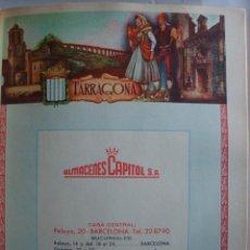 Coleccionismo de carteles: LÁMINA COLECCIÓN PUBLICIDAD ALMACENES CAPITOL PROVINCIA DE TARRAGONA 1954-1955. Lote 62291340