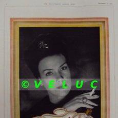 Coleccionismo de carteles: ANUNCIO PUBLICIDAD CIGARRILLOS CRAVEN PERIODICO LONDON NEWS 1944. Lote 39113411