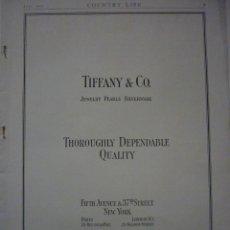 Coleccionismo de carteles: ARTÍCULO ORIGINAL. TIFFANY & CO. FIFTH AVENUE & 37TH STREET. AÑOS 20. Lote 66230438