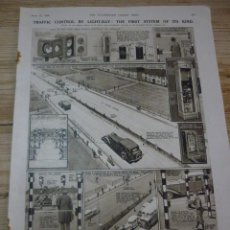 Coleccionismo de carteles: TRAFFIC CONTROL BY LIGHT-RAY: THE FIRST SYSTEM OF ITS KIND. ARTICULO ORIGINAL LONDON NEWS APRIL 1936. Lote 66255754