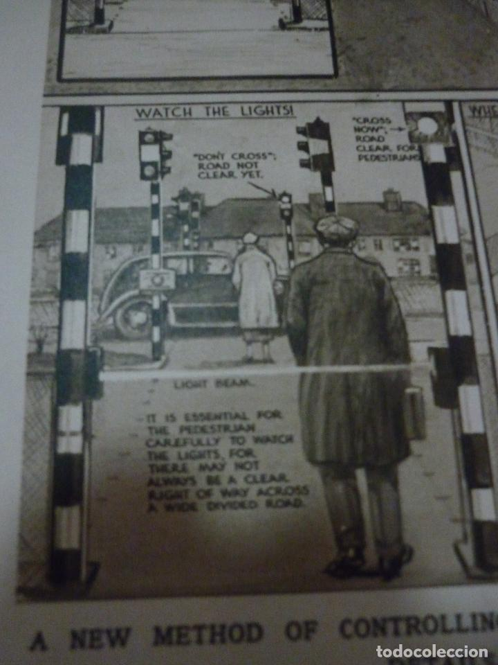 Coleccionismo de carteles: TRAFFIC CONTROL BY LIGHT-RAY: THE FIRST SYSTEM OF ITS KIND. ARTICULO ORIGINAL LONDON NEWS APRIL 1936 - Foto 4 - 66255754