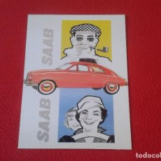 Coleccionismo de carteles: PRECIOSO CARTEL CHAPA PLACA IMAGEN VINTAGE SAAB AUTOMOVILES COCHES COCHE CAR AUTOMOVIL. DECORACIÓN . Lote 66440354