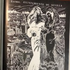 Coleccionismo de carteles: SEMANA SANTA 1941 AYUNTAMIENTO DE SEVILLA .HOJA REVISTA PUBLICIDAD. Lote 68992025