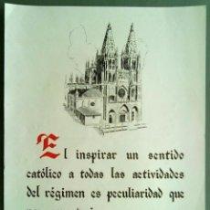 Coleccionismo de carteles: LA FRASE QUINZENAL FRANCO 1945 24 X 31 CM (APROX). Lote 70137649