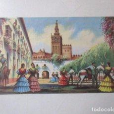Coleccionismo de carteles: LOTE TRES CARTELES AÑOS CINCUENTA FERIA DE SEVILLA, GIRALDA, TORRE DEL ORO, TOROS, FIESTAS PRIMAVERA. Lote 227762785