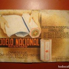 Coleccionismo de carteles: ALGODON HIDROFILO. Lote 74346843