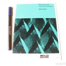 Coleccionismo de carteles: CATALOGO ORIGINAL DEL MICROSCOPIO WILD M4 STEREOSCOPICO ZEISS IKON Y ACCESORIOS. 1964. Lote 74738603
