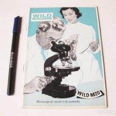 Coleccionismo de carteles: CATALOGO ORIGINAL DEL MICROSCOPIO WILD HEERBRUCC ZEISS IKON Y ACCESORIOS. 1956. Lote 74740603