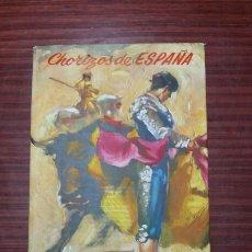 Coleccionismo de carteles: CARTEL PUBLICIDAD - TAURINO - CHORIZOS DE ESPAÑA - VIUDA DE B. MORENO - BADARAN - LA RIOJA. Lote 75219945