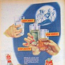 Collectionnisme d'affiches: ANTIGUA PUBLICIDAD GASESOSA LA CASERA. 1957. Lote 76392327