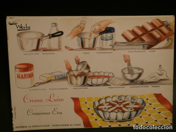 Coleccionismo de carteles: Ficha cocina practica WALY 7 fichas - Foto 2 - 76565823