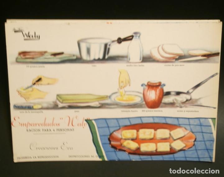 Coleccionismo de carteles: Ficha cocina practica WALY 7 fichas - Foto 3 - 76565823
