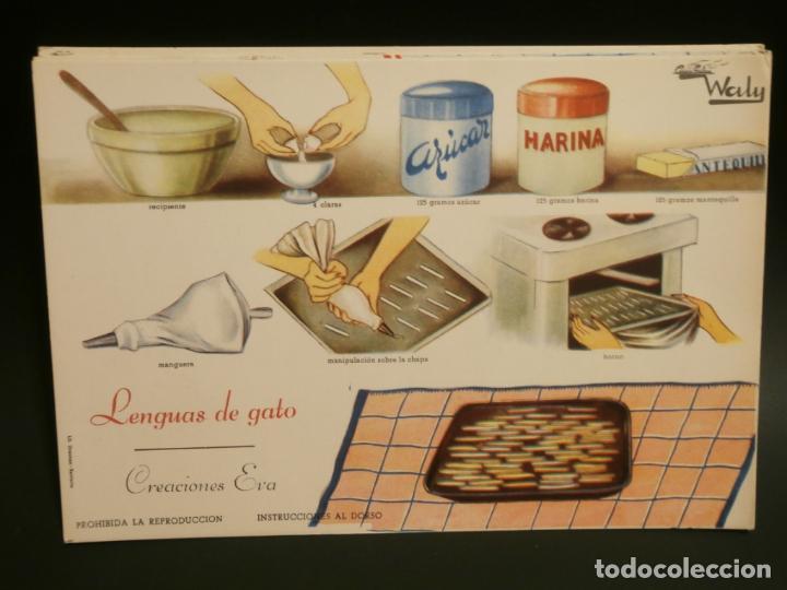 Coleccionismo de carteles: Ficha cocina practica WALY 7 fichas - Foto 4 - 76565823