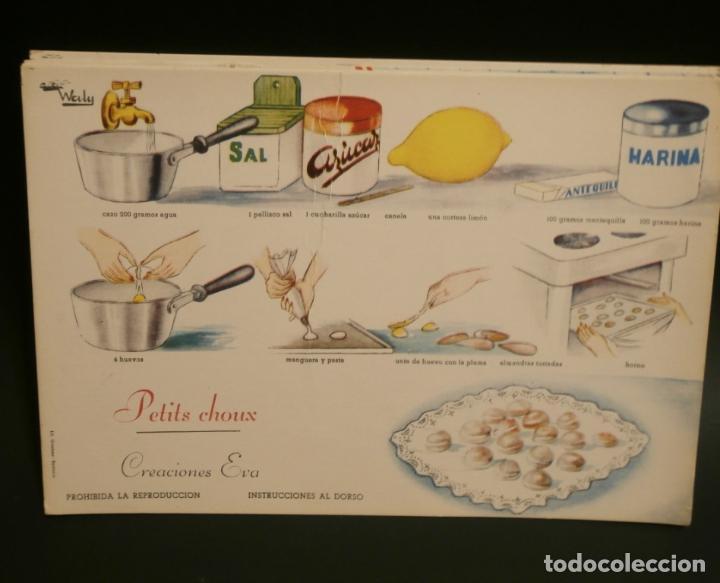 Coleccionismo de carteles: Ficha cocina practica WALY 7 fichas - Foto 5 - 76565823