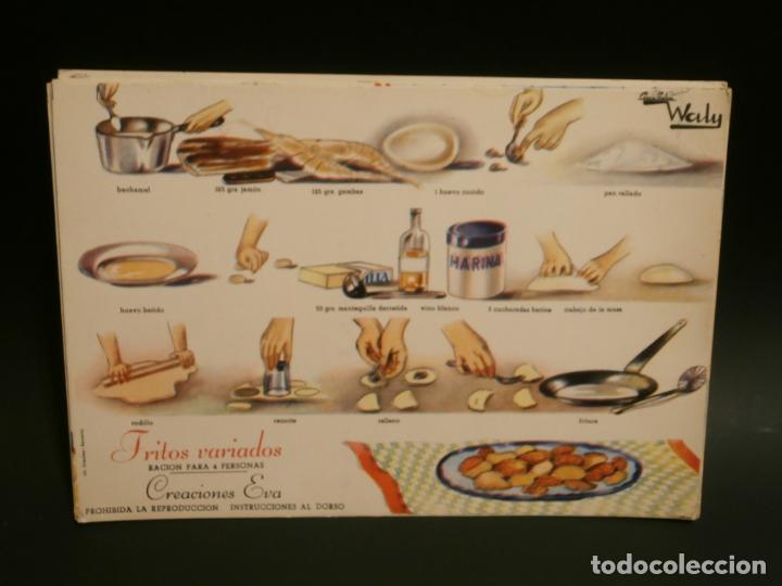 Coleccionismo de carteles: Ficha cocina practica WALY 7 fichas - Foto 6 - 76565823