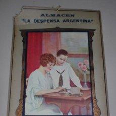 Coleccionismo de carteles: CARTEL PUBLICITARIO. ALMACEN LA DESPENSA ARGENTINA. BENJAMIN CATALDO. VILLA ROSAS. 27 X 42CM. Lote 77124385