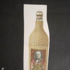Coleccionismo de carteles: RON ORO - LLUBI - MALLORCA - FINALES SIGLO XIX -CARTELITO PAPEL-VER FOTOS-(V-9338). Lote 78164493
