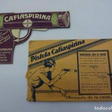 Coleccionismo de carteles: PISTOLA CAFIASPIRINA. MUY ANTIGUA PUBLICIDAD BAYER. CONSERVA EL SOBRE ORIGINAL. MUY RARA. Lote 79131493