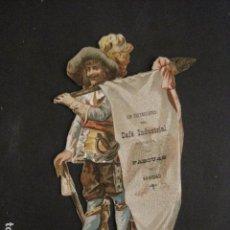 Coleccionismo de carteles: PEQUEÑO CARTEL TROQUELADO - LOS DEPENDIENTES CAFE INDUSTRIAL FELICITAN NAVIDAD -VER FOTOS - (V-9623). Lote 79313793
