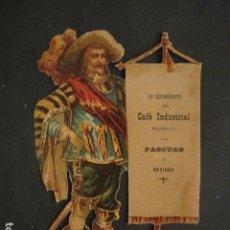 Coleccionismo de carteles: PEQUEÑO CARTEL TROQUELADO - LOS DEPENDIENTES CAFE INDUSTRIAL FELICITAN NAVIDAD -VER FOTOS - (V-9624). Lote 79313969