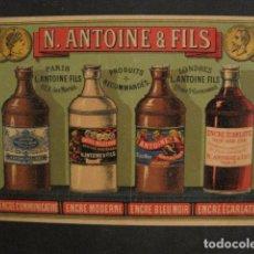 Coleccionismo de carteles: PEQUEÑO CARTEL ANTOINE & FILS - PRODUCTOS RECOMENDADOS -VER FOTOS - (V-9627). Lote 79314997