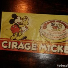 Coleccionismo de carteles: PEQUEÑO CARTEL CIRAGE MICKEY MOUSE, CREMA DE CALZADO, TEXTO EN FRANCÈS.. Lote 79543109
