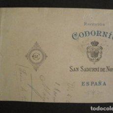 Coleccionismo de carteles: RAVENTOS CODORNIU - SAN SADURNI DE NOYA -PEQUEÑO CARTEL - PRECIOS - VER FOTOS -(V-9671). Lote 79800497