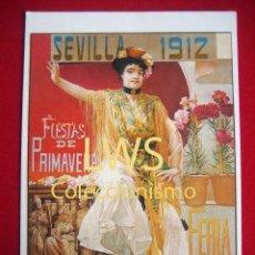 Coleccionismo de carteles: SEVILLA 1912, SEMANA SANTA - PUBLICIDAD IMÁGENES. Lote 79920145