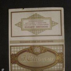 Coleccionismo de carteles: CARTELITO ENVOLTORIO 200 GR.- CHOCOLATE A LA VAINILLA - J. OLIVERES - VER FOTOS - (V-9728). Lote 80133745