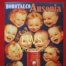 Coleccionismo de carteles: BOROTALCO AUSONIA, POLVOS TALCO PARA LA HIGIENE DE LOS NIÑOS Y MAYORES, IMÁGENES FARMACIA S-1. Lote 80244509