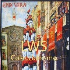 Coleccionismo de carteles: ANÍS VALLS, BARCELONA - PUBLICIDAD IMÁGENES - BEBIDAS ANISADOS S-2. Lote 178865953