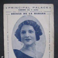 Coleccionismo de carteles: CARTEL ESPECTACULO BRISAS DE LA HABANA - PRINCIPAL PALACE -ELENA BRITO - VER FOTOS- (V-10.781). Lote 84760816