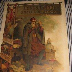 Coleccionismo de carteles: CARTEL PUBLICIDAD FORMULARIO ENCICLOPEDICO MEDICINA FARMACIA VETERINARIA 29 / 21 CM PAPEL GRUESO. Lote 85254400