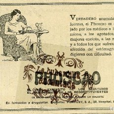 Coleccionismo de carteles: PUBLICIDAD 1929 - COLECCION COMIDAS - PHOSCAO DESAYUNO EN FARMACIAS Y DROGUERIAS - RECORTE 20 X 12. Lote 85913040
