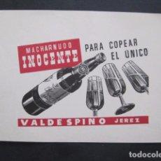 Coleccionismo de carteles: MACHARNUDO INOCENTE - VALDESPINO - PEQUEÑO CARTEL PUBLICIDAD -VER FOTOS-(V-10.902). Lote 86048636