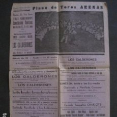 Coleccionismo de carteles: PLAZA TOROS ARENAS - FIESTAS DE SAN JUAN - BARCELONA-VER FOTOS - (V- 10.956). Lote 86300052