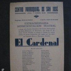 Coleccionismo de carteles: CENTRO PARROQUIAL SAN JOSE - AÑO 1939 - BARCELONA-VER FOTOS - (V- 10.959). Lote 86300548