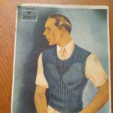Coleccionismo de carteles: POSTAL PUBLICIDAD LANAS HISPANIA- REVERSO CON INSTRUCCIONES PARA REALIZAR JERSEY CABALLERO -ORIGINAL. Lote 86632582