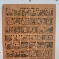 Coleccionismo de carteles: CARTEL AUCA FALLA J. COSTA Y ALTEA. DESDICHAS DE UN HOMBRE FLACO. AÑO 1946 NUMERO 6. R. GAYANO LLUCH. Lote 87309608