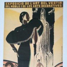Coleccionismo de carteles: CARTEL DE MODA.2°SALO DE CREACIONS 1935.MEDIDAS 50CM.X34CM.. Lote 87589612