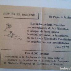 Coleccionismo de carteles: DOMUND. VALENCIA. Lote 88160736