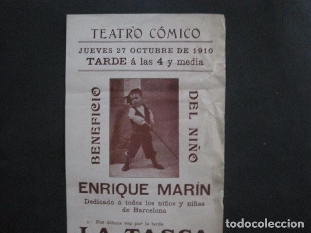 Coleccionismo de carteles: TEATRO COMICO - ENRIQUE MARIN - AÑO 1910 - VER FOTOS -(V-11.580) - Foto 2 - 89606552