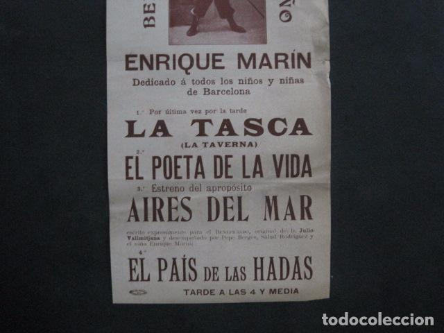 Coleccionismo de carteles: TEATRO COMICO - ENRIQUE MARIN - AÑO 1910 - VER FOTOS -(V-11.580) - Foto 3 - 89606552
