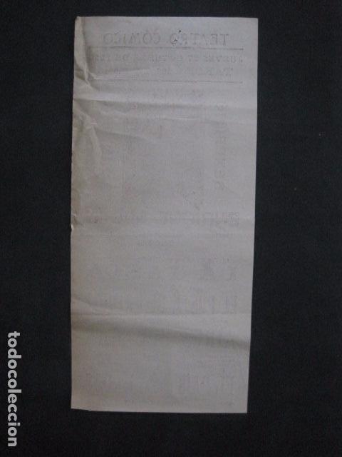 Coleccionismo de carteles: TEATRO COMICO - ENRIQUE MARIN - AÑO 1910 - VER FOTOS -(V-11.580) - Foto 4 - 89606552