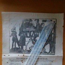 Coleccionismo de carteles: RARO IDEARIO , PANFLETO POLÍTICO EDITADO EN VERSO PARA LAS ELECCIONES ESPAÑOLAS DE 1871.. Lote 90016928