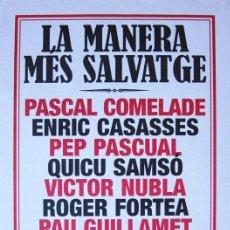 Coleccionismo de carteles: PASCAL COMELADE. CARTEL CONCIERTO EN BARCELONA, 2006. Lote 43150801