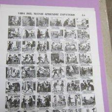 Collectionnisme d'affiches: AUCAS-ALELUYAS, VIDA DEL APRENDIZ DE ZAPATERO,IMP. ANTONÍO BOSCH. Lote 90344792